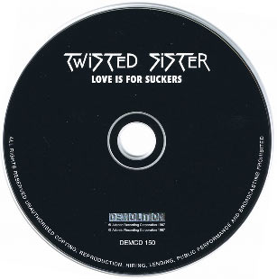 Фотография диска альбома Twisted Sister - Love Is for Suckers (1987)